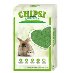 Vadigran Chipsi Forest green. 5 in 1 comfort litter for rodents. Litière rongeur
