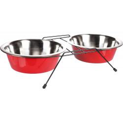 Flamingo Pet Products Ciotola Duo ø 25 cm. 2500 ml. con supporto Arjun. L. per cani FL-520830 Ciotola, ciotola doppia