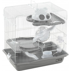 Flamingo Pet Products Binky cage grey. 45 x 30 x 44.5 cm. for Hamster. Cage