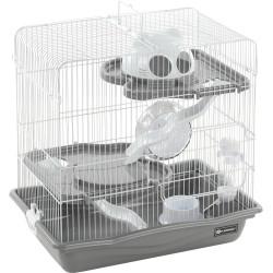 Gaiola Binky, cinza. 45 x 30 x 44,5 cm. para o Hamster. FL-210333 Cage