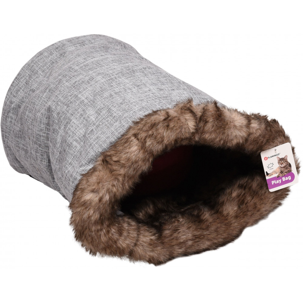 Flamingo Pet Products Playbag Amadeo 55 x 35 cm. grey-brown color. for cat Sleeping