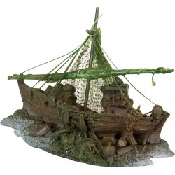 Decoration Fishing boat for Aquarium 22,5 X 11 X 11 X 11 cm Decoration and other Flamingo FL-401278