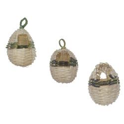 animallparadise 3 wicker nests for exotic birds, for birds Bird's nest product