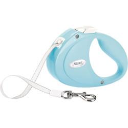 Flexi PUPPY leiband maat XS kleur : blauw Trixie TR-12302 hondenriem