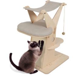 zolux Albero per gatti Cat lodge 5, dimensioni 70,5 x 58 x H 90 cm ZO-504134 Dormire