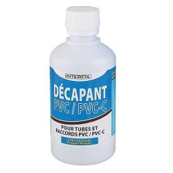 Interplast 250 ml Paint stripper for rigid PVC pool pipes. colle et autre
