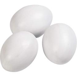 trois Faux œufs de poule Accessoire Flamingo FL-100951-x3
