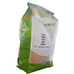 Vadigran Seeds for BIRDS white round millet 4Kg Nourriture graine