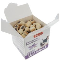 Mini ciasteczka z nadzieniem wołowym, 400 gr. puszka dla psów AP-482483-400 animallparadise