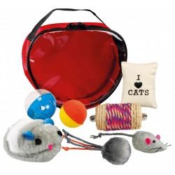 Trixie Set di giocattoli in una borsa per gatti TR-4538 Giochi