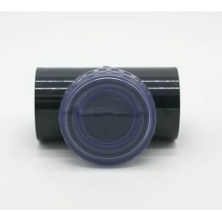"""Plimat SO-CARBT50 Swing check valve ø 50 mm """"T"""" shaped with transparent inspection plug. flap"""