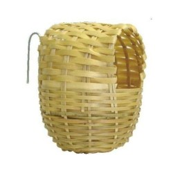 Exotic Bamboo Nest for Bird 10 x 12 cm Cages, aviaries, nest box Flamingo FL-100019