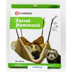 Hammock For Brown Swedish Ferret 30 x 26 cm Beds, hammocks, nesters Flamingo FL-208205