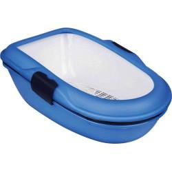 Trixie Katzentoilette Berto 39 x 22 x 22 x 22 x 59 cm blau TR-40152 Abfallbehälter