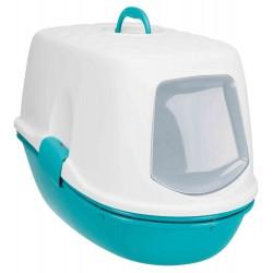 Maison de toilette Berto turquoise pour chat 39 × 42 × 59 cm accessoire litière Trixie TR-40163