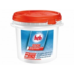 HTH Stick- Hypopchlorite - Chlorine 300 gr - Pot of 4,5 Kg Treatment product