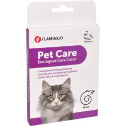 Flamingo Ökologisches Pflegehalsband ohne Insektizid für Katzen 38 cm FL-560135 Antiparasitäre Katze