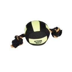 balle Aquatic pour Chien Noir/Jaune 18 cm Jeux Flamingo FL-5345438