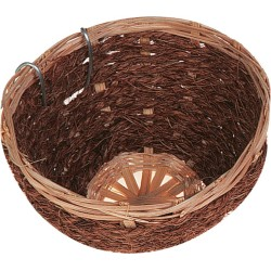 Flamingo Nid Bambou/Coco pour Canaris 11 x 7 cm FL-100491 Produit nid oiseaux