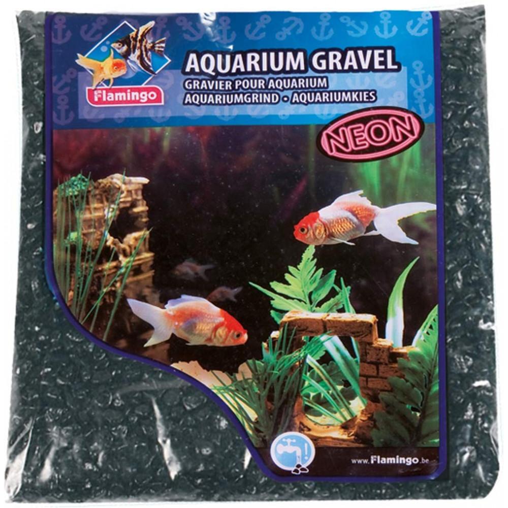 Gravier neon noir 1 kg pour aquarium Décoration et autre  Flamingo FL-400409