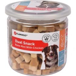 """Friandise Snack pour chien """"dual mini Bone poulet 160 gr Nourriture Flamingo FL-518574"""