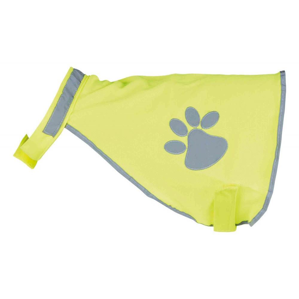 Gilet de sécurité jaune pour chien taille S Collier et laisse Trixie TR-30081