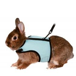 Harnais doux avec laisse 1.2 m pour lapins Colliers, laisses, harnais Trixie TR-61513