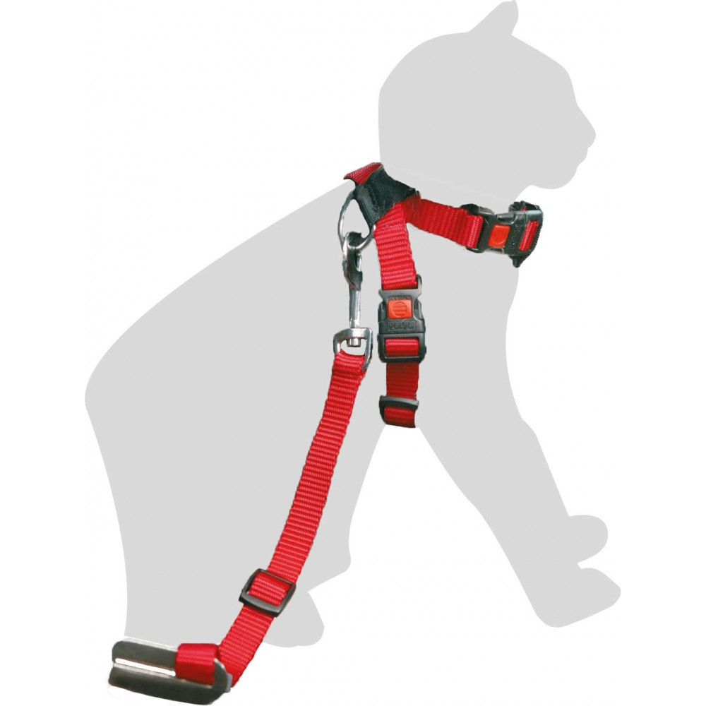 Flamingo FL-1032089 Safety Harness + lead for Red Cat 15 mm collier laisse cage