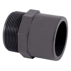 "Nipple ø 40/50 mm and threaded 1 1/2"" PVC pressure FITTINGS PVC PRESSURE Generic IN-SAM340F"