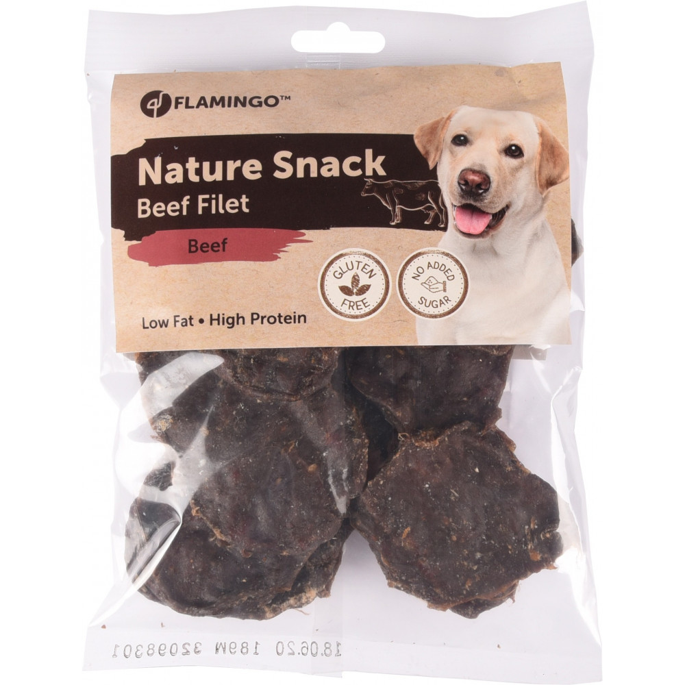 Friandise naturel filets de boeuf 200 gr Friandise chien  Flamingo FL-518635