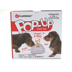 Flamingo Popup Hundebehandlungen Dispenser Spielzeug 20 cm x 18 x 11,5 cm FL-518683 Belohnen Sie Süßigkeiten-Spiele