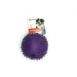 1 Balle en caoutchouc ø 9 cm - pour chien couleur aléatoire Jouet Flamingo FL-517942