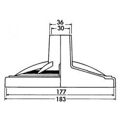 Skim Vac 3190 pour skimmer Premium/Design 18.3 cm Plaque aspiration skimmer HAYWARD SC-HAY-250-0119