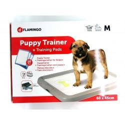 FL-507675 Flamingo Plateau éducateur pour chiots M 60 x 45 cm + 10 tapis absorbant entrenamiento de limpieza de perros