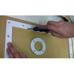Générique Kit of 4 self-adhesive gasket sheets for swimming pool liner seals. Spare parts after-sales service