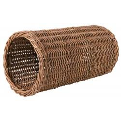 Tunnel en osier pour lapin Dimensions: ø 20 × 38 cm Lits, hamacs, nicheurs Trixie TR-62833