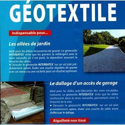 Interplast Géotextile INTERBATEX 110gr L 2M x 25ML IN-SGPPTC225 Parc et jardin