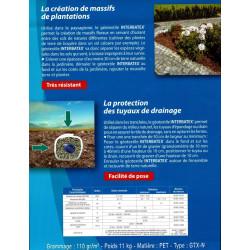 Géotextile INTERBATEX 110gr L 2M x 25ML Parc et jardin Interplast IN-SGPPTC225