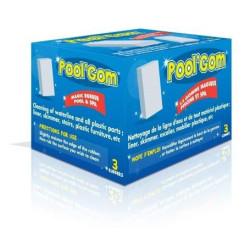 3 boites Pool Gom nettoyage de la ligne d'eau piscine Brosse toucan TOU-400-0005-x3