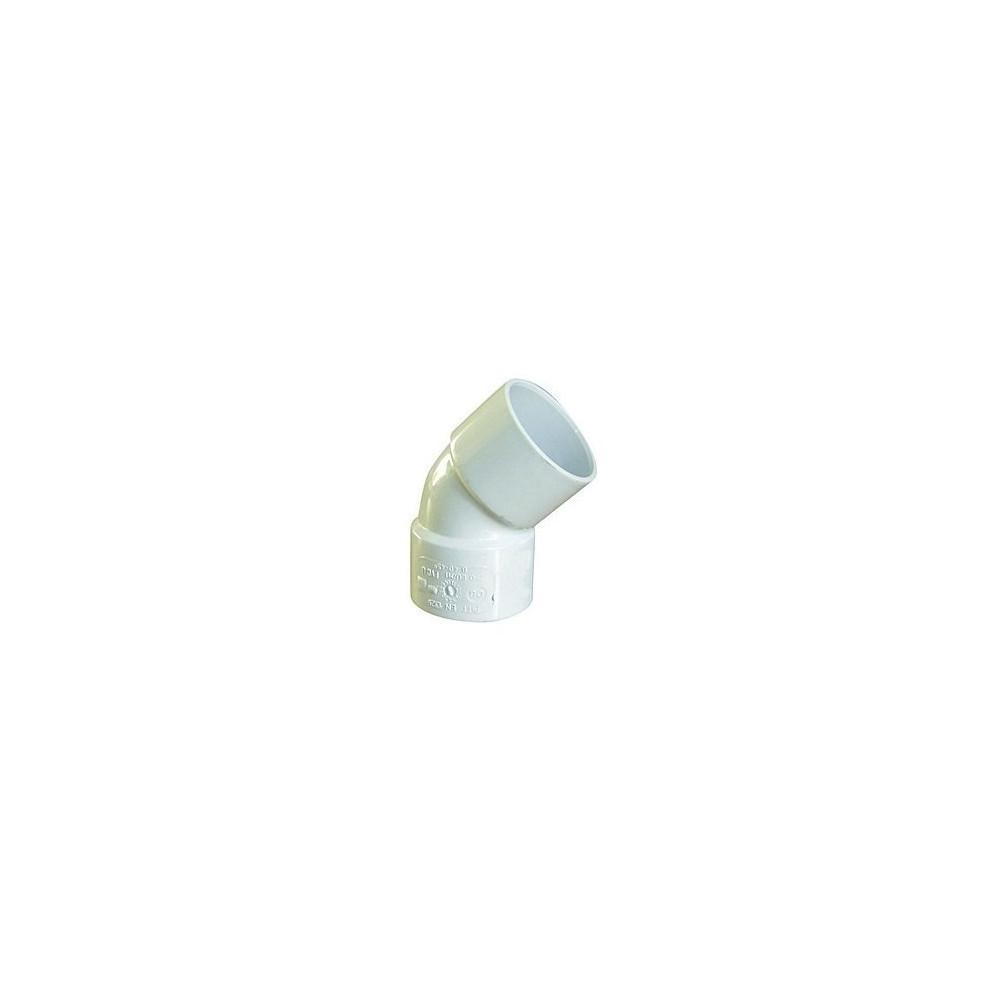 Interplast coude pvc 45° ff ø 40 blanc IN-SRBCOF45040B Raccord PVC évacuation