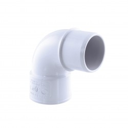 Interplast IN-SRBCOM87040B PVC elbow drainage, 87° M-F, ø 40 mm, colour white. PVC drainage connection