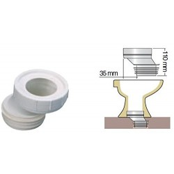 Interplast Ein WC-Rohr, exzentrische Adaption von 35 mm ø100 mm. IN-SPIPADE35 Klempnerei