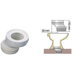 Interplast Un tubo WC, adattamento decentrato di 35 mm ø100 mm. IN-SPIPADE35 Impianto idraulico