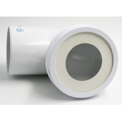 PIPE SANITAIRE COURTE COUDE MALE D.100MM PIQUAGE D.40MM Plomberie Interplast IN-SPIPCCAPM