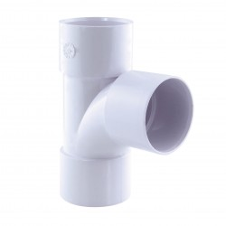 pvc 87° ff ff ø 40 white PVC drain connection Interplast IN-SRBPBF87040B