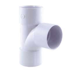 Interplast IN-SRBPBF87040B té pied de biche pvc 87° ff ø 40 blanc PVC drainage connection
