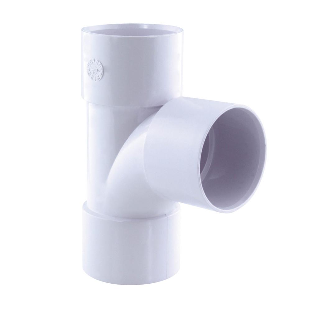 Interplast té pied de biche pvc 87° ff ø 40 blanc IN-SRBPBF87040B Raccord PVC évacuation