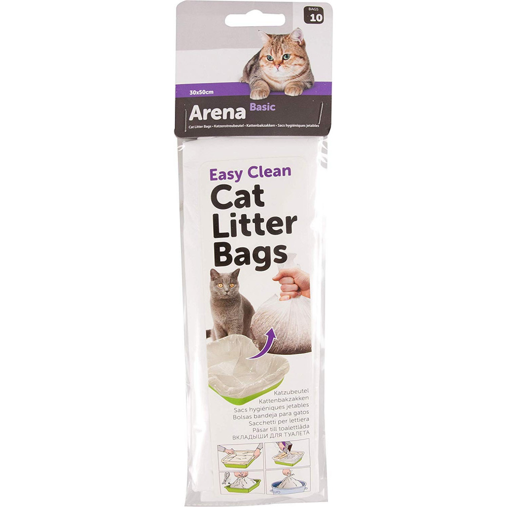 Flamingo FL-500776 Hygiene Bags for Cat Litter Tray Lot 10 Pieces litter accessory