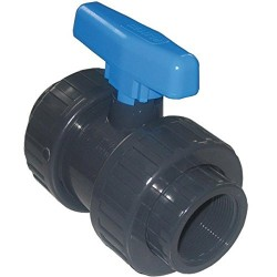 "PVC Ball Valve Screw Pressure FF 3/4"" Plimat SO-VAV3/4 Valve"