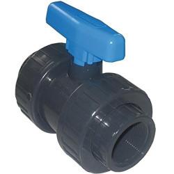 """SO-VAV3/4 Plimat Válvula de bola de PVC Presión de tornillo FF 3/4"""" FF 3/4 Válvula"""
